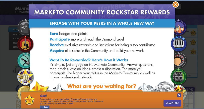 Gamification on Marketo Community