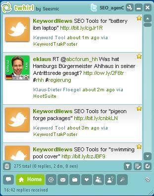 Popular Twitter Tool Twhirl